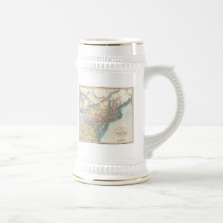Vintage Map of New England (1821) Beer Stein