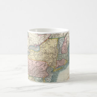Vintage Map of New England (1821) Coffee Mug