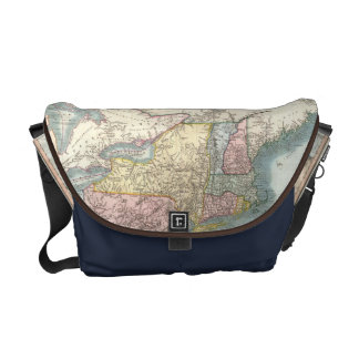 Vintage Map of New England (1821) Courier Bag
