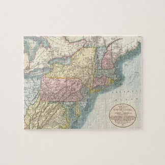 Vintage Map of New England (1821) Jigsaw Puzzle