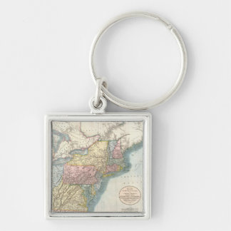 Vintage Map of New England (1821) Keychain