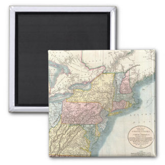 Vintage Map of New England (1821) Magnets