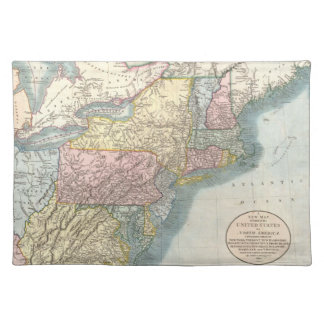 Vintage Map of New England (1821) Placemats