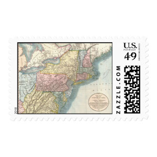 Vintage Map of New England (1821) Stamps