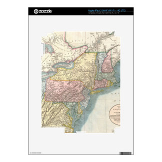 Vintage Map of New England (1821) Skins For iPad 3