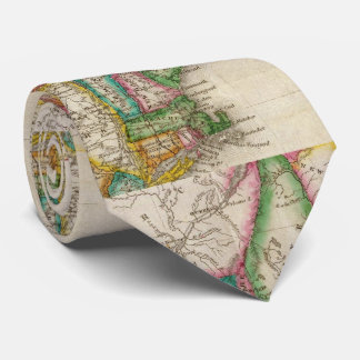 Vintage Map of New England (1822) Neck Tie