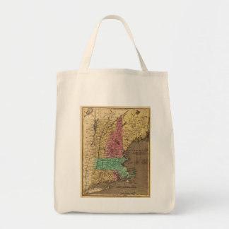Vintage Map of New England (1836) Canvas Bags