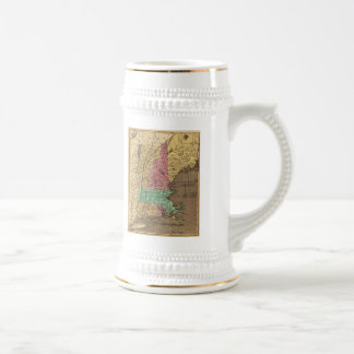 Vintage Map of New England (1836) Beer Stein