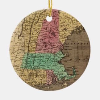 Vintage Map of New England (1836) Ceramic Ornament