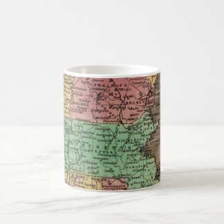 Vintage Map of New England (1836) Coffee Mug