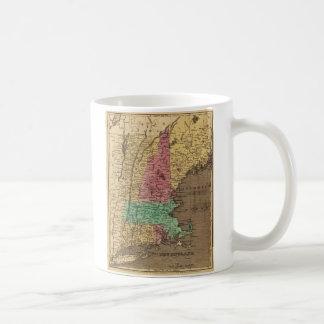 Vintage Map of New England (1836) Coffee Mug