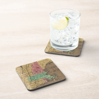 Vintage Map of New England (1836) Drink Coaster