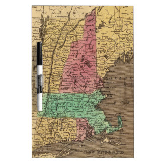 Vintage Map of New England (1836) Dry Erase Whiteboard