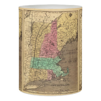 Vintage Map of New England (1836) Flameless Candle