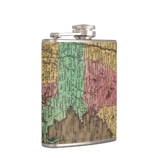 Vintage Map of New England (1836) Hip Flask