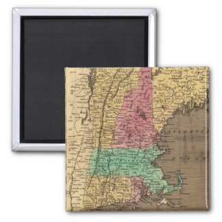 Vintage Map of New England (1836) Magnet