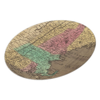Vintage Map of New England (1836) Melamine Plate