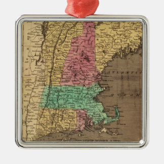 Vintage Map of New England (1836) Metal Ornament