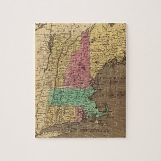 Vintage Map of New England (1836) Puzzle