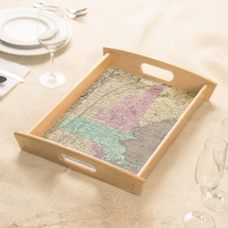Vintage Map of New England (1836) Serving Tray
