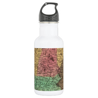 Vintage Map of New England (1836) Stainless Steel Water Bottle