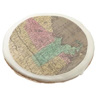 Vintage Map of New England (1836) Sugar Cookie