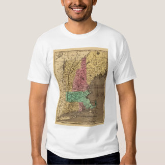 Vintage Map of New England (1836) T-shirt