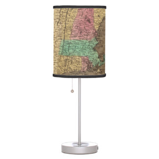 Vintage Map of New England (1836) Table Lamp