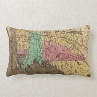 Vintage Map of New England (1836) Throw Pillow