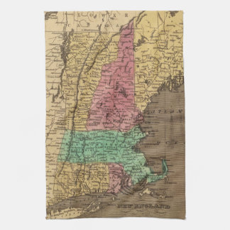 Vintage Map of New England (1836) Towel