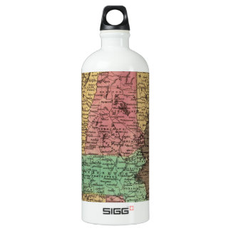 Vintage Map of New England (1836) Water Bottle