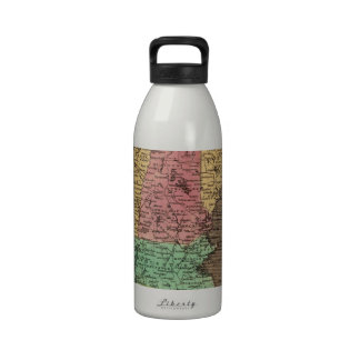 Vintage Map of New England (1836) Reusable Water Bottle