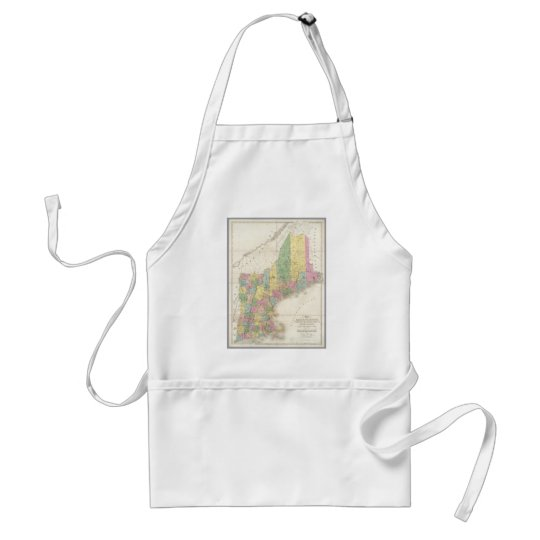 Vintage Map of New England (1839) Adult Apron