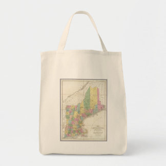 Vintage Map of New England (1839) Tote Bag