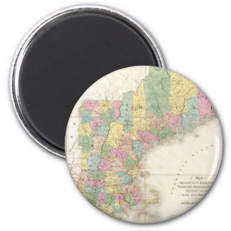 Vintage Map of New England (1839) Refrigerator Magnets