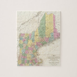 Vintage Map of New England (1839) Jigsaw Puzzle