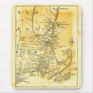 Vintage Map of New England Mouse Pad