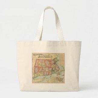 Vintage Map of New England States (1900) Bag