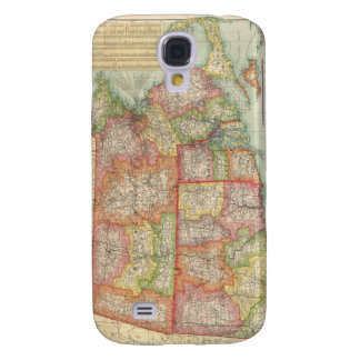 Vintage Map of New England States (1900) Galaxy S4 Cover