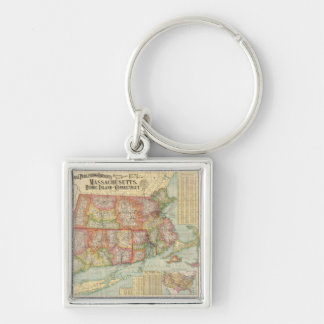 Vintage Map of New England States (1900) Keychain