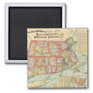 Vintage Map of New England States (1900) Refrigerator Magnets