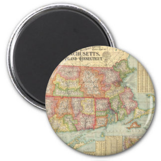 Vintage Map of New England States (1900) Magnets