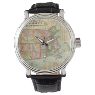 Vintage Map of New England States (1900) Wristwatch