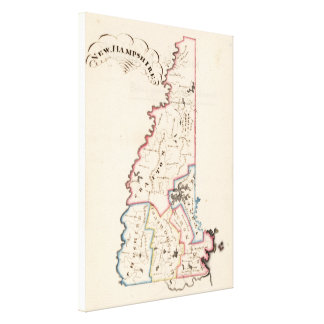 Vintage Map of New Hampshire (1819) Canvas Print