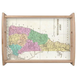 Vintage Map of New Hampshire (1827) Food Trays