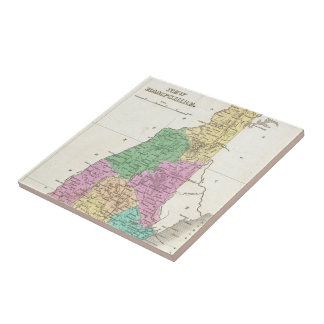 Vintage Map of New Hampshire (1827) Tile