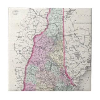 Vintage Map of New Hampshire (1855) Ceramic Tile