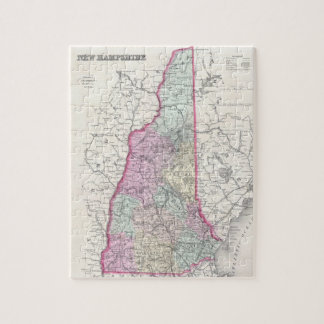 Vintage Map of New Hampshire (1855) Jigsaw Puzzle