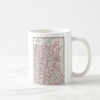 Vintage Map of New Hampshire and Vermont (1861) Coffee Mug