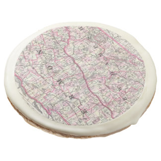 Vintage Map of New Hampshire and Vermont (1861) Sugar Cookie
